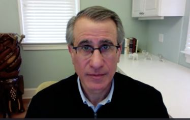 Tufts president Anthony Monaco speaking on Zoom Town Hall from his home. Monaco and Tufts senior leadership outline what's been done and what lies ahead for the university in response to the pandemic