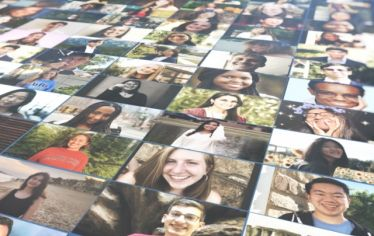 A collage of photos of members of the Tufts Class of 2024. For a virtual matriculation at Tufts, videos, new faces, and alumni come together to create both an all-encompassing and personal reception